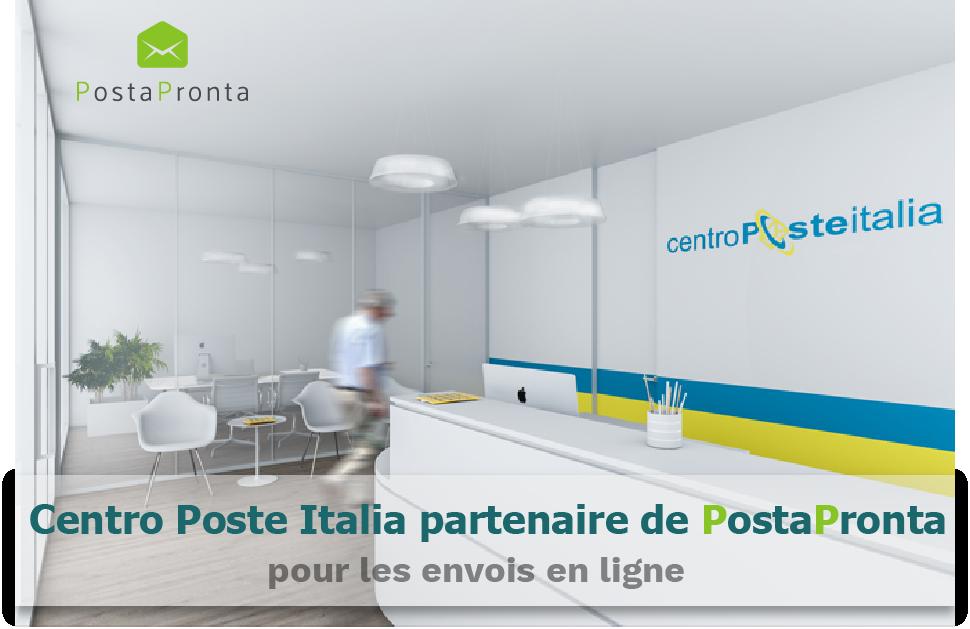 Centro Poste Italia partenaire de PostaPronta pour les envois en ligne !